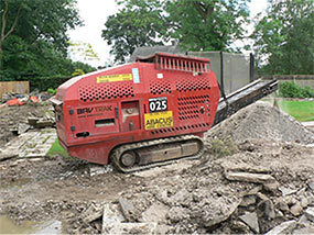 All existing paving and concrete was recycled by crushing it on site. Approx. 20 tonnes of crushed concrete was produced this way.