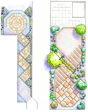 long narrow garden plan - Garden Design Long Narrow