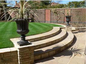 Andrew spacie landscape garden projects split level for Split level garden designs